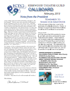 February 2012 Call Board Newsletter