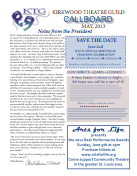 May 2013 Call Board Newsletter